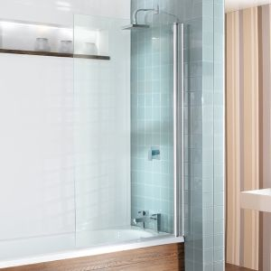 Semi Frameless Bath Screen