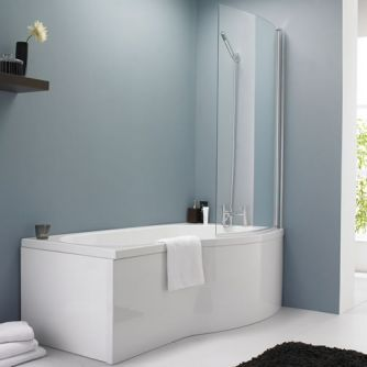 Milano Curved B Shower Bath